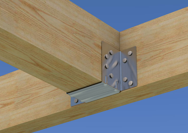 Ceiling Joist Hangers. Post And Beam Timber Brackets