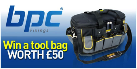 Win a £50 Stanley Tool Bag with BPC Fixings!